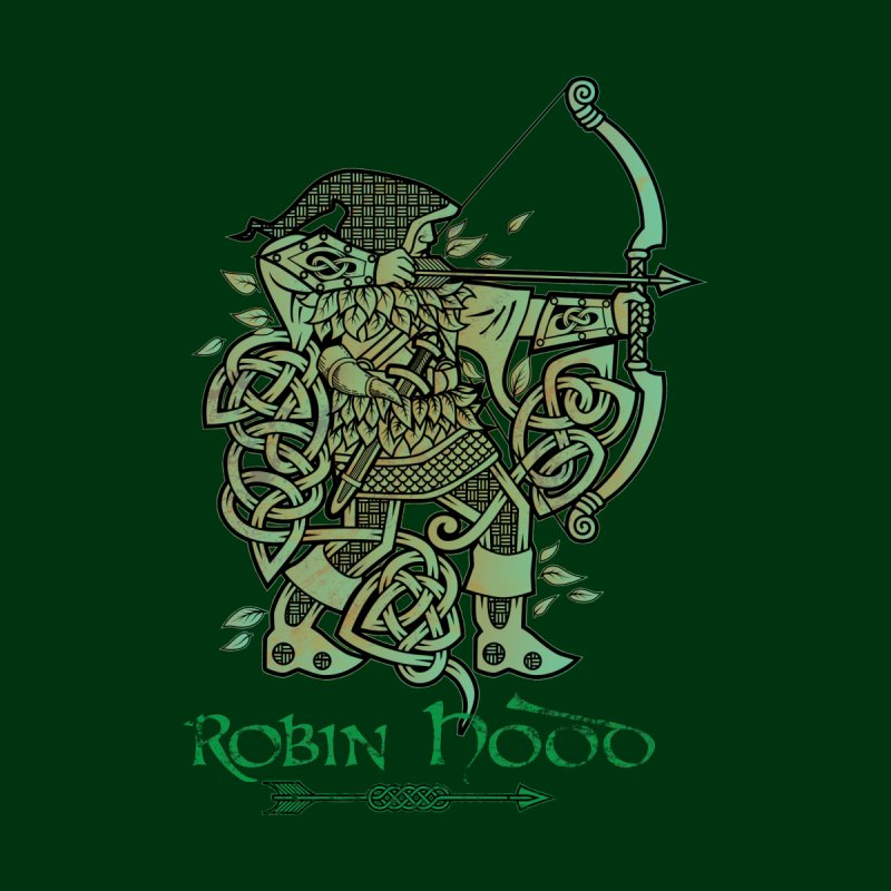 Robin Hood (Green Copper Version) Kids T-Shirt by Celtic Hammer Club