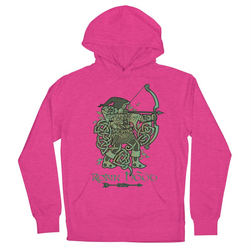 Robin Hood (Green Copper Version) Women's French Terry Pullover Hoody by Celtic Hammer Club Apparel
