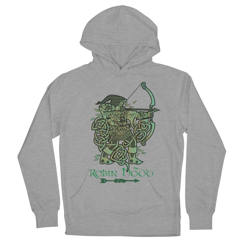 Robin Hood (Green Copper Version) Men's French Terry Pullover Hoody by Celtic Hammer Club Apparel