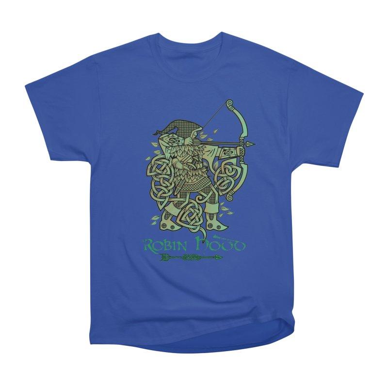 Robin Hood (Green Copper Version) Women's Heavyweight Unisex T-Shirt by Celtic Hammer Club Apparel