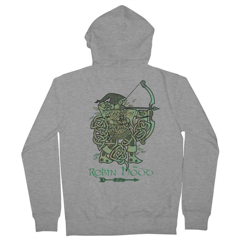 Robin Hood (Green Copper Version) Women's Zip-Up Hoody by Celtic Hammer Club Apparel