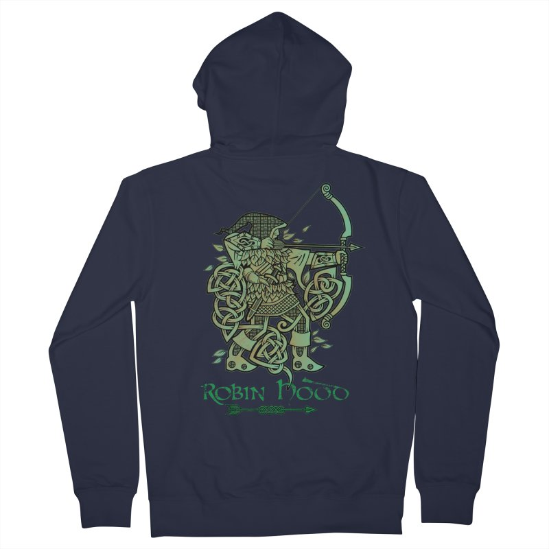 Robin Hood (Green Copper Version) Women's French Terry Zip-Up Hoody by Celtic Hammer Club Apparel