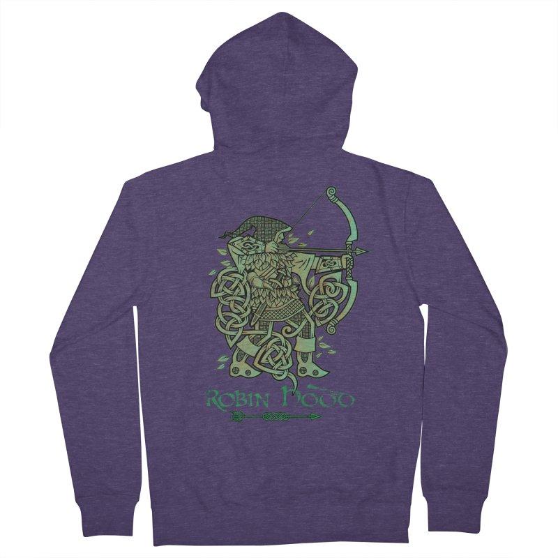 Robin Hood (Green Copper Version) Men's Zip-Up Hoody by Celtic Hammer Club Apparel