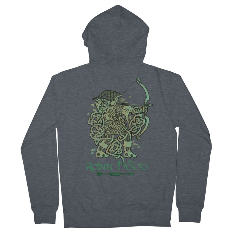 Robin Hood (Green Copper Version) Men's French Terry Zip-Up Hoody by Celtic Hammer Club Apparel