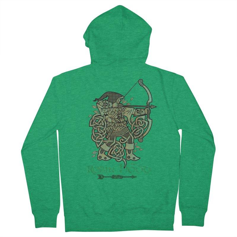 Robin Hood (Green Copper Version) Men's Zip-Up Hoody by Celtic Hammer Club