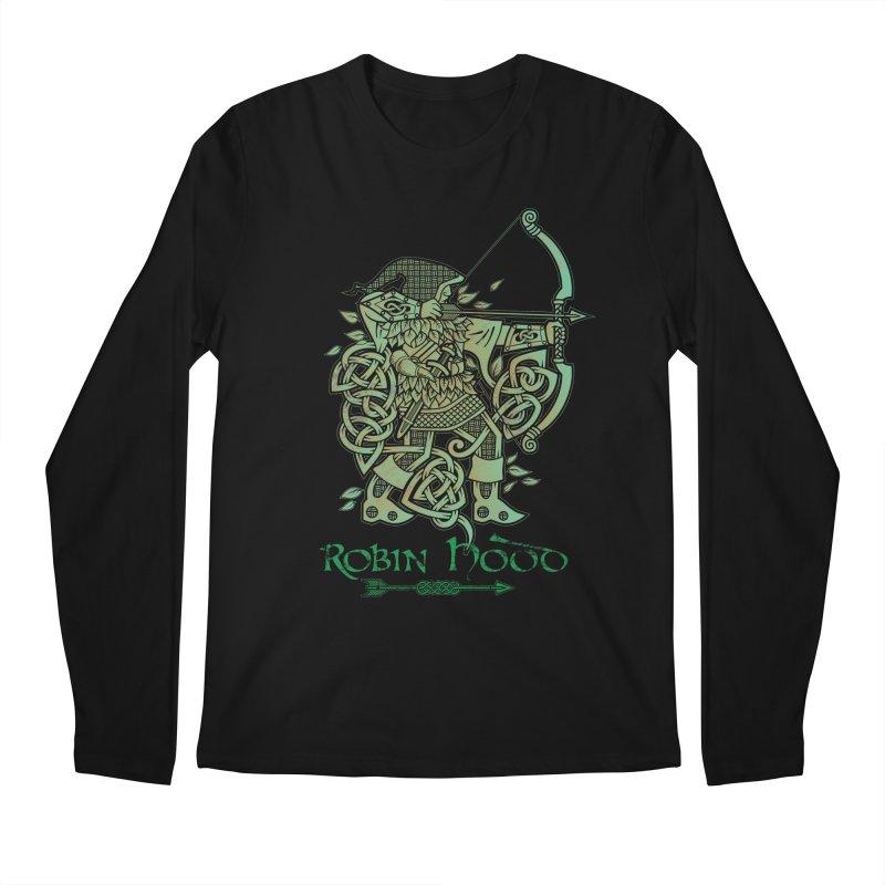 Robin Hood (Green Copper Version) Men's Regular Longsleeve T-Shirt by Celtic Hammer Club Apparel
