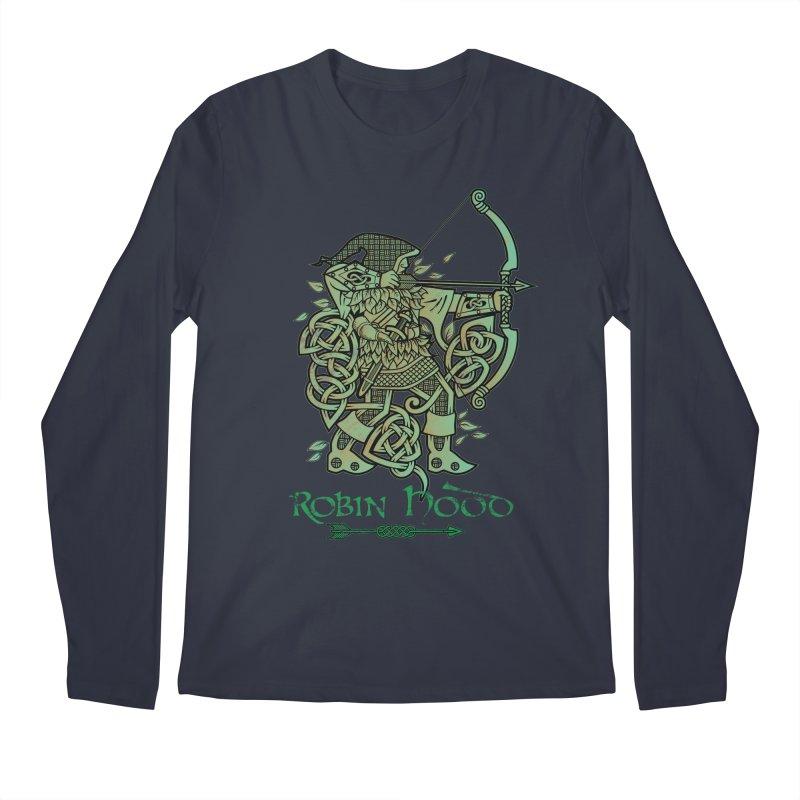 Robin Hood (Green Copper Version) Men's Longsleeve T-Shirt by Celtic Hammer Club Apparel
