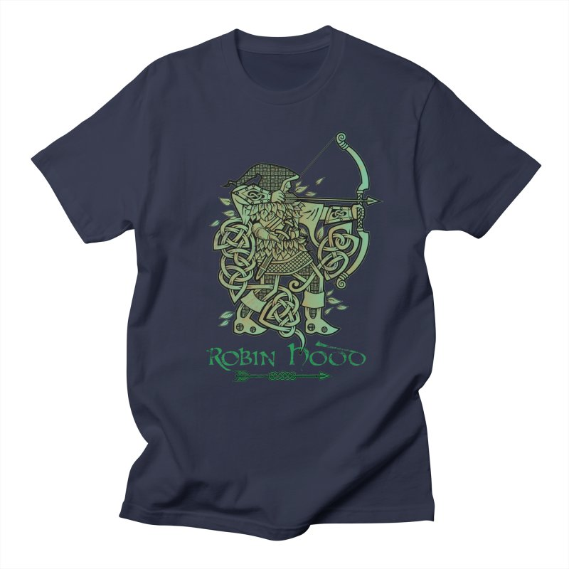 Robin Hood (Green Copper Version) Men's T-Shirt by Celtic Hammer Club