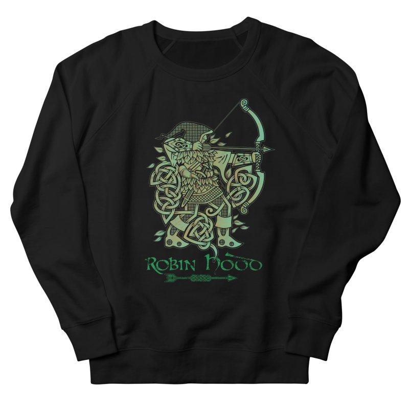 Robin Hood (Green Copper Version) Women's French Terry Sweatshirt by Celtic Hammer Club Apparel
