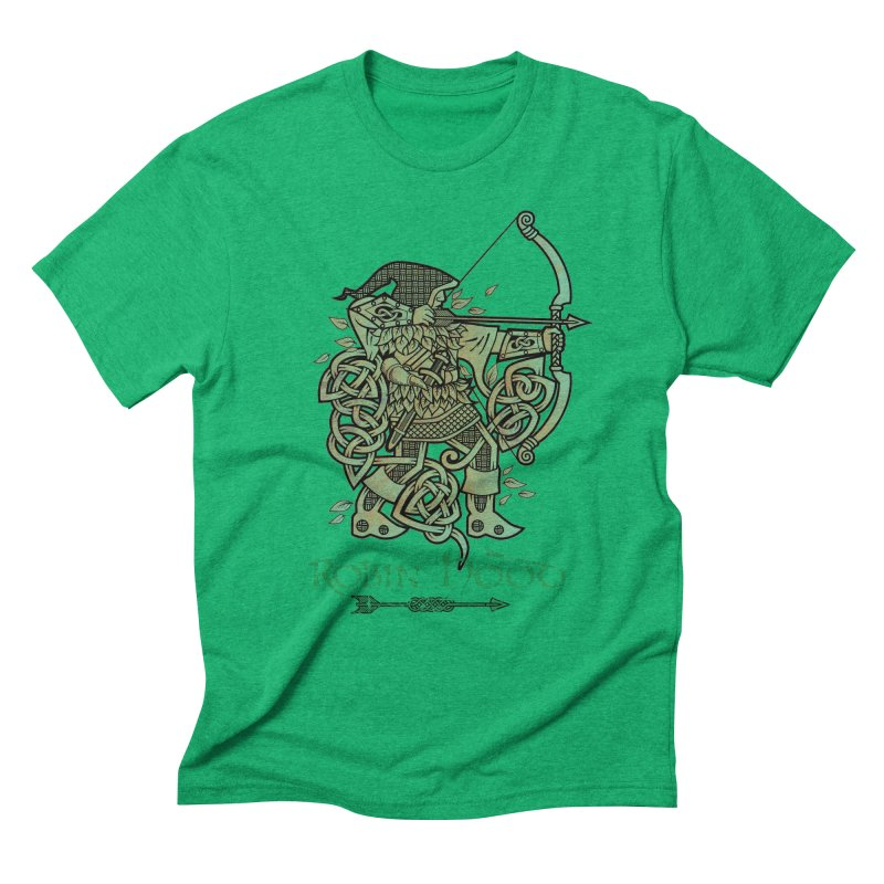 Robin Hood (Green Copper Version) Men's Triblend T-Shirt by Celtic Hammer Club Apparel
