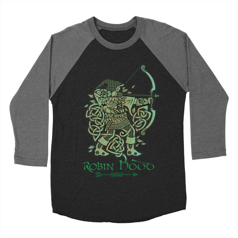 Robin Hood (Green Copper Version) Women's Baseball Triblend Longsleeve T-Shirt by Celtic Hammer Club Apparel
