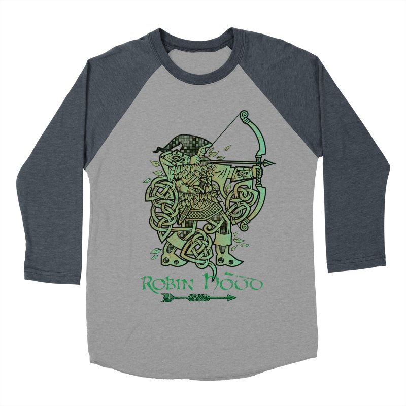 Robin Hood (Green Copper Version) Men's Baseball Triblend T-Shirt by Celtic Hammer Club Apparel
