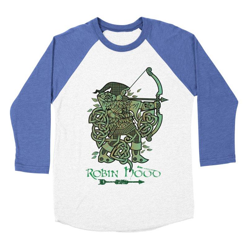 Robin Hood (Green Copper Version) Men's Baseball Triblend Longsleeve T-Shirt by Celtic Hammer Club Apparel