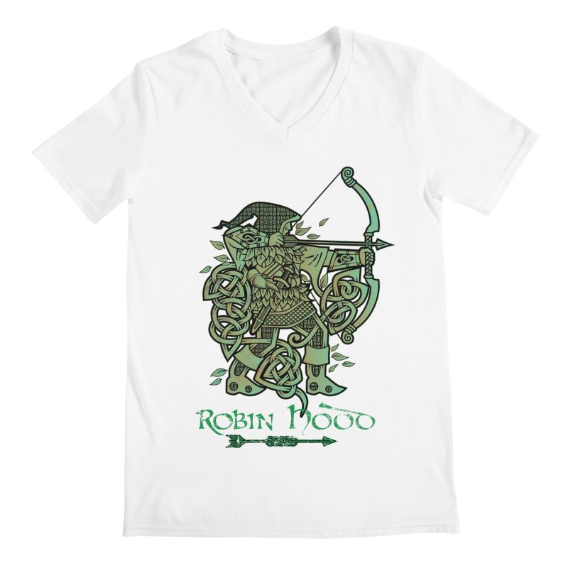 Robin Hood (Green Copper Version) Men's V-Neck by Celtic Hammer Club