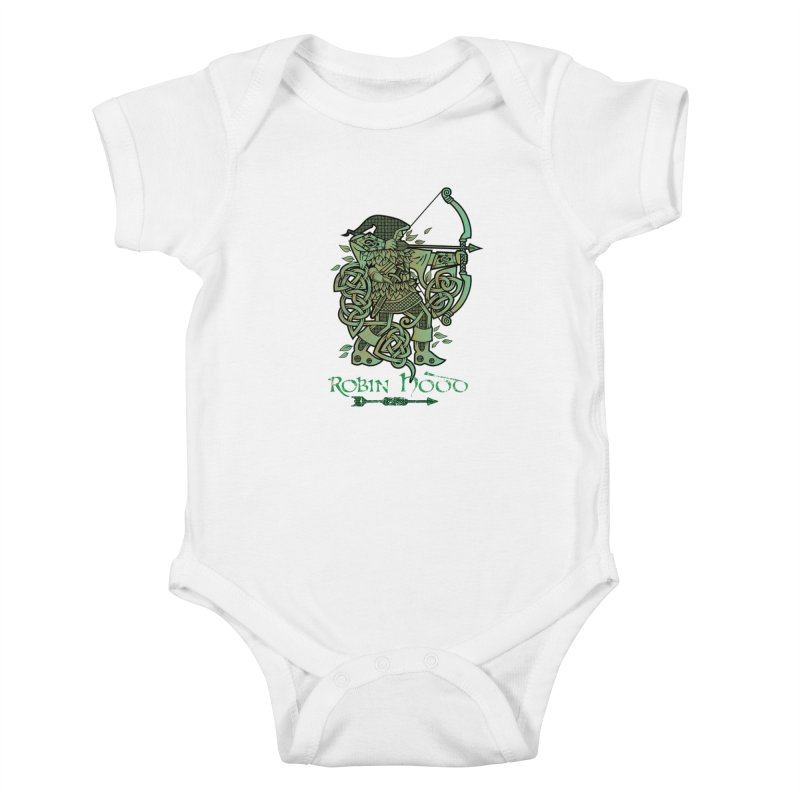 Robin Hood (Green Copper Version) Kids Baby Bodysuit by Celtic Hammer Club Apparel