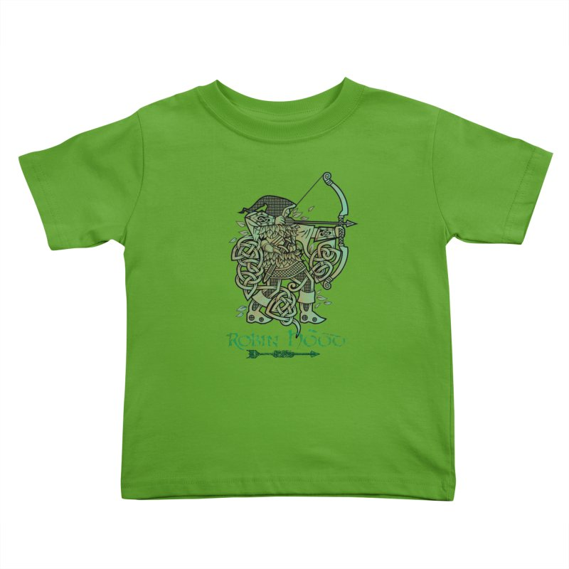 Robin Hood (Green Copper Version) Kids Toddler T-Shirt by Celtic Hammer Club