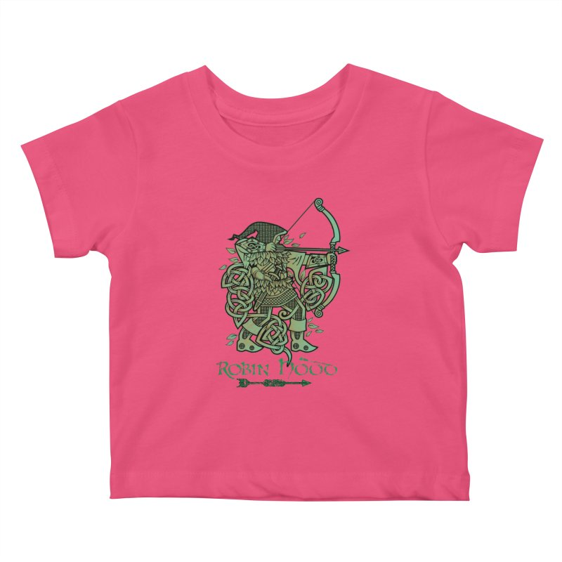 Robin Hood (Green Copper Version) Kids Baby T-Shirt by Celtic Hammer Club Apparel