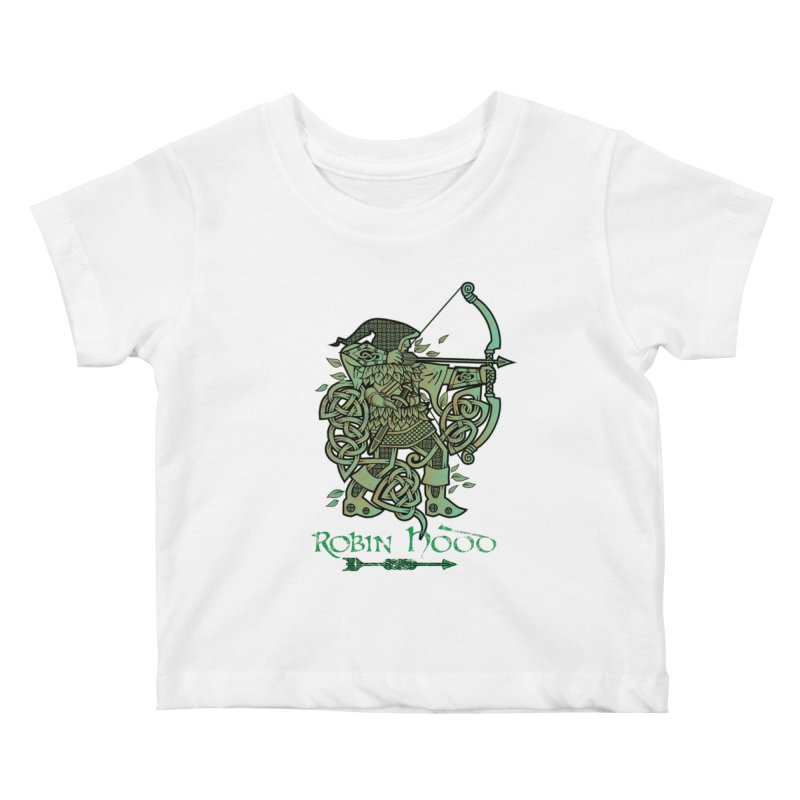 Robin Hood (Green Copper Version) Kids Baby T-Shirt by Celtic Hammer Club