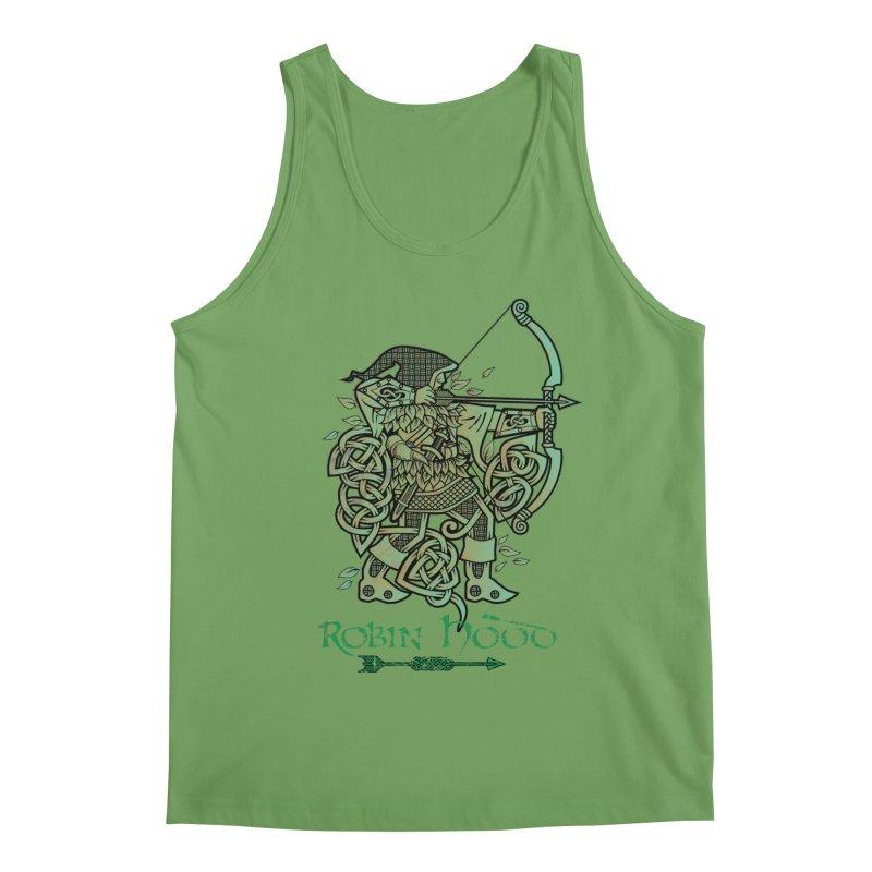 Robin Hood (Green Copper Version) Men's Tank by Celtic Hammer Club