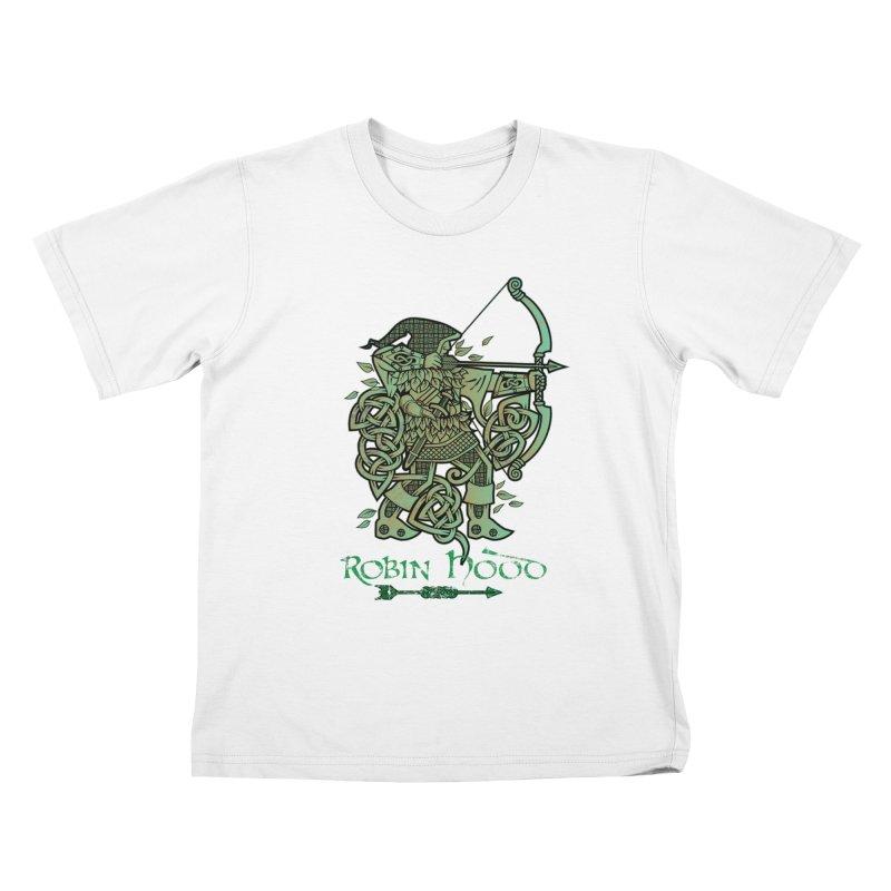 Robin Hood (Green Copper Version) Kids T-Shirt by Celtic Hammer Club Apparel