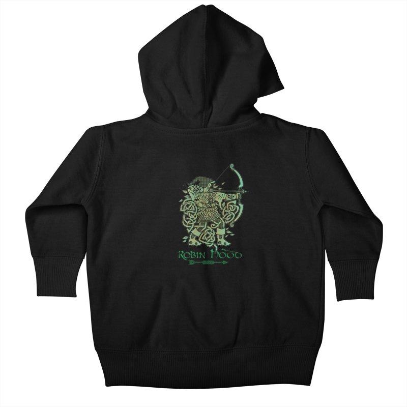 Robin Hood (Green Copper Version) Kids Baby Zip-Up Hoody by Celtic Hammer Club Apparel