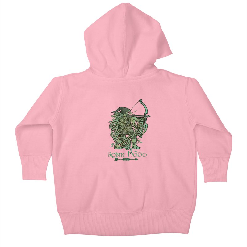 Robin Hood (Green Copper Version) Kids Baby Zip-Up Hoody by Celtic Hammer Club