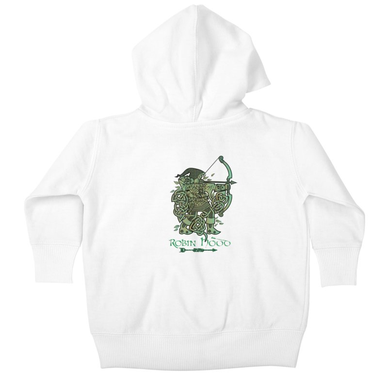 Robin Hood (Green Copper Version) Kids Baby Zip-Up Hoody by Celtic Hammer Club Apparel