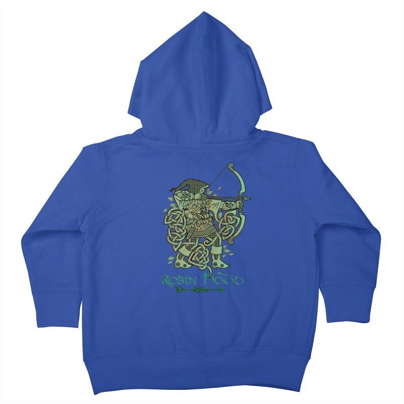 Robin Hood (Green Copper Version) Kids Toddler Zip-Up Hoody by Celtic Hammer Club
