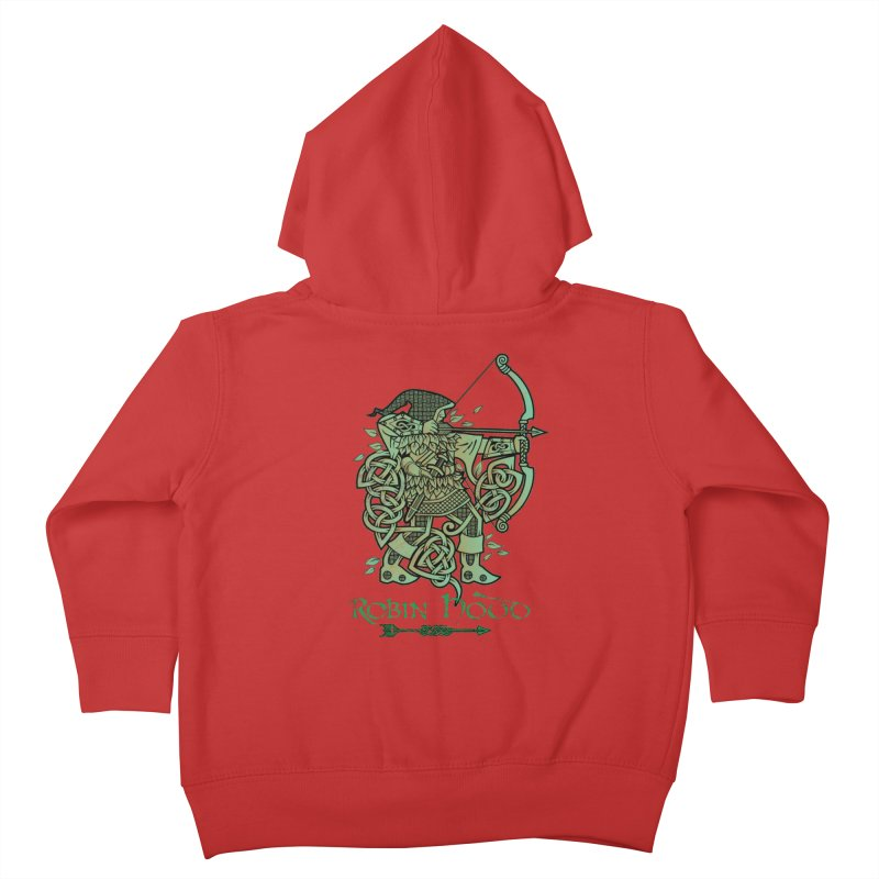 Robin Hood (Green Copper Version) Kids Toddler Zip-Up Hoody by Celtic Hammer Club