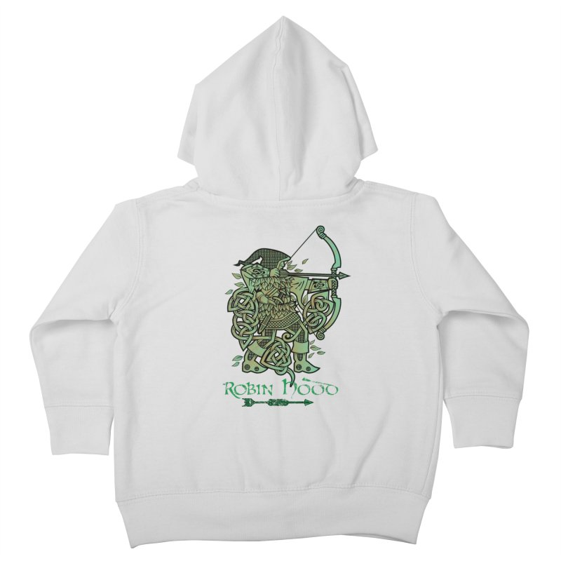 Robin Hood (Green Copper Version) Kids Toddler Zip-Up Hoody by Celtic Hammer Club Apparel