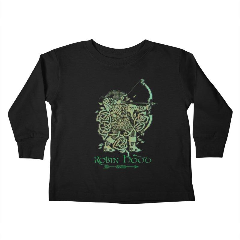 Robin Hood (Green Copper Version) Kids Toddler Longsleeve T-Shirt by Celtic Hammer Club Apparel