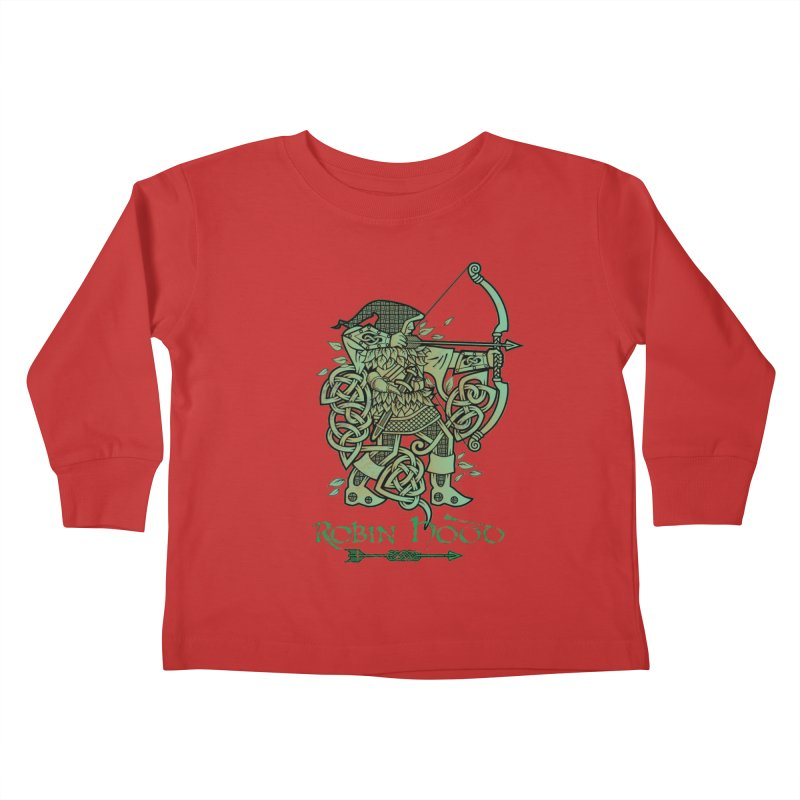 Robin Hood (Green Copper Version) Kids Toddler Longsleeve T-Shirt by Celtic Hammer Club Apparel