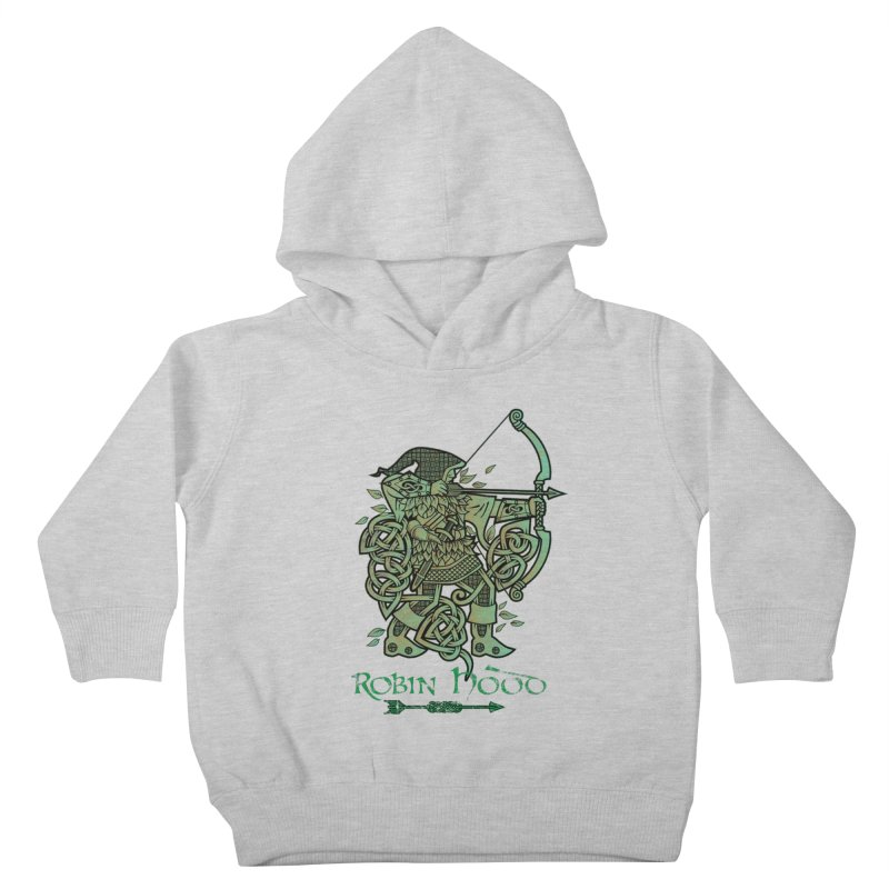 Robin Hood (Green Copper Version) Kids Toddler Pullover Hoody by Celtic Hammer Club