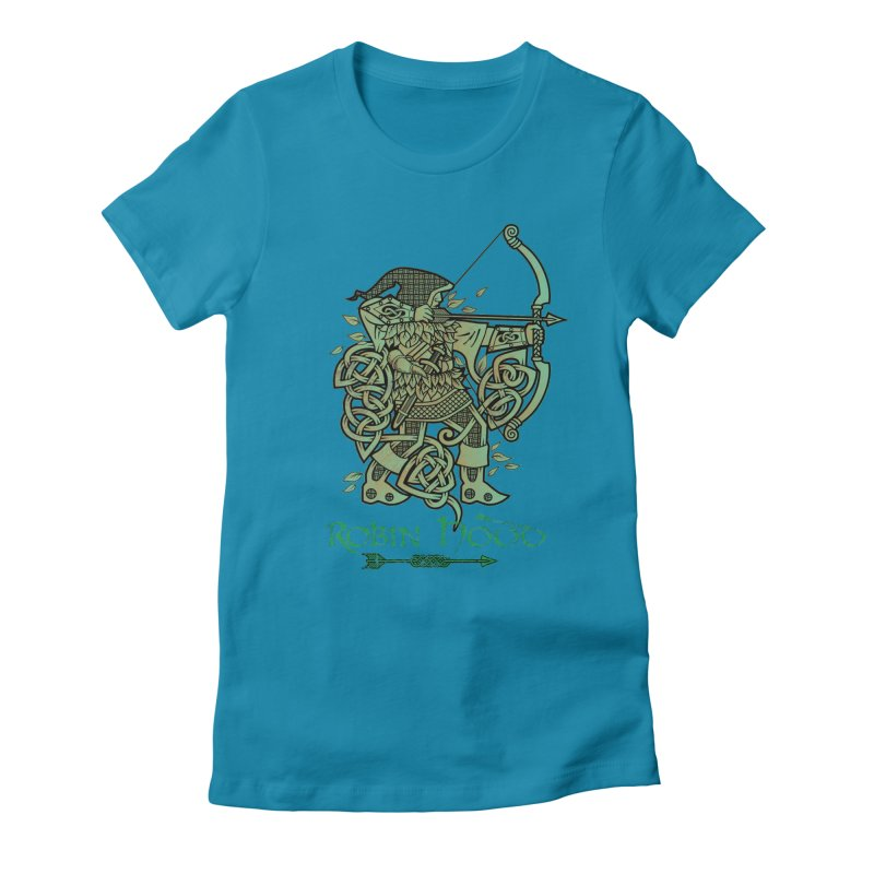 Robin Hood (Green Copper Version) Women's Fitted T-Shirt by Celtic Hammer Club Apparel