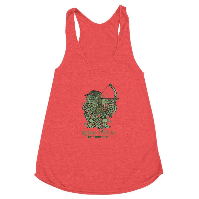 Robin Hood (Green Copper Version) Women's Racerback Triblend Tank by Celtic Hammer Club Apparel