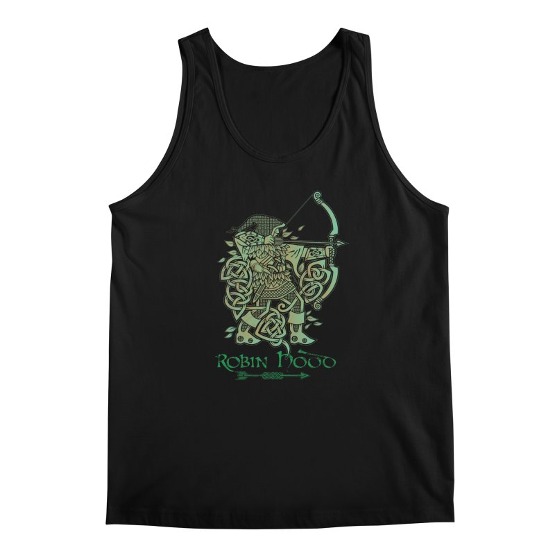 Robin Hood (Green Copper Version) Men's Regular Tank by Celtic Hammer Club Apparel
