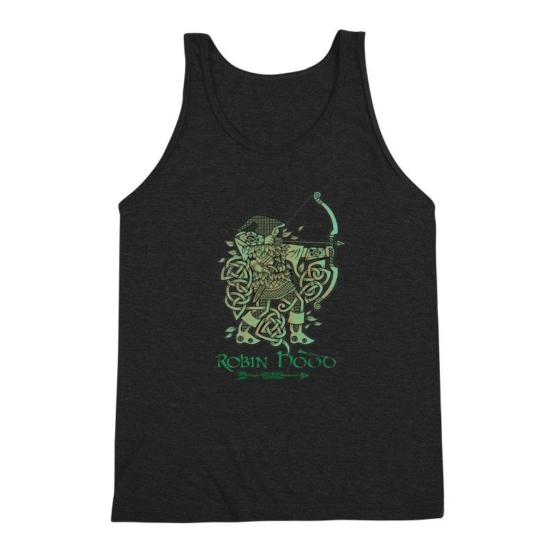 Robin Hood (Green Copper Version) Men's Triblend Tank by Celtic Hammer Club Apparel