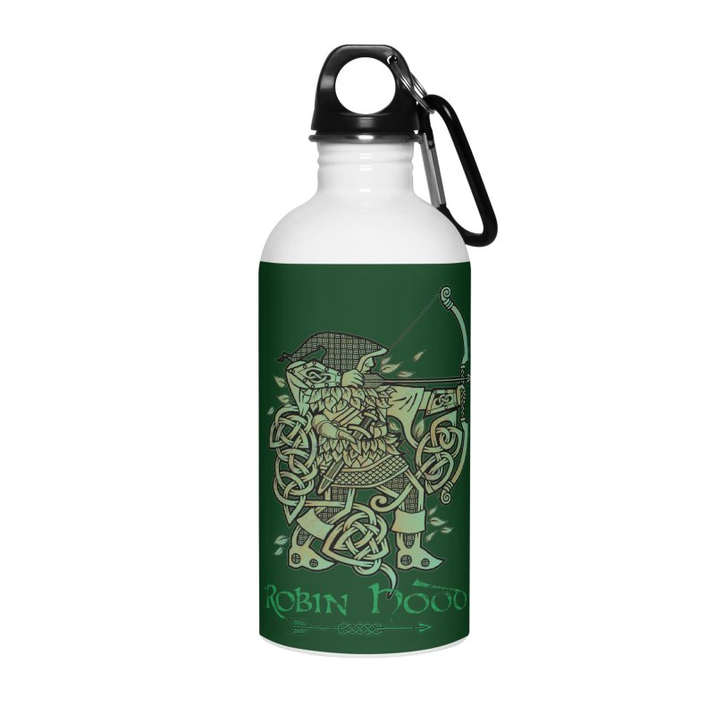 Robin Hood (Green Copper Version) Accessories Water Bottle by Celtic Hammer Club Apparel