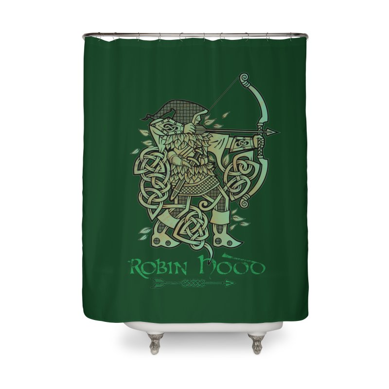 Robin Hood (Green Copper Version) Home Shower Curtain by Celtic Hammer Club Apparel