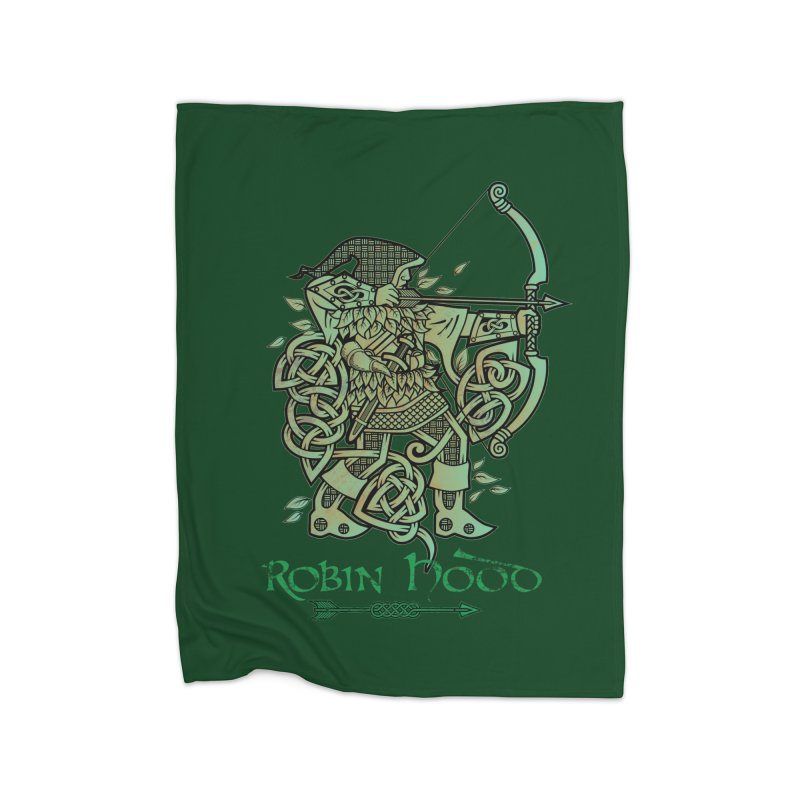 Robin Hood (Green Copper Version) Home Blanket by Celtic Hammer Club Apparel