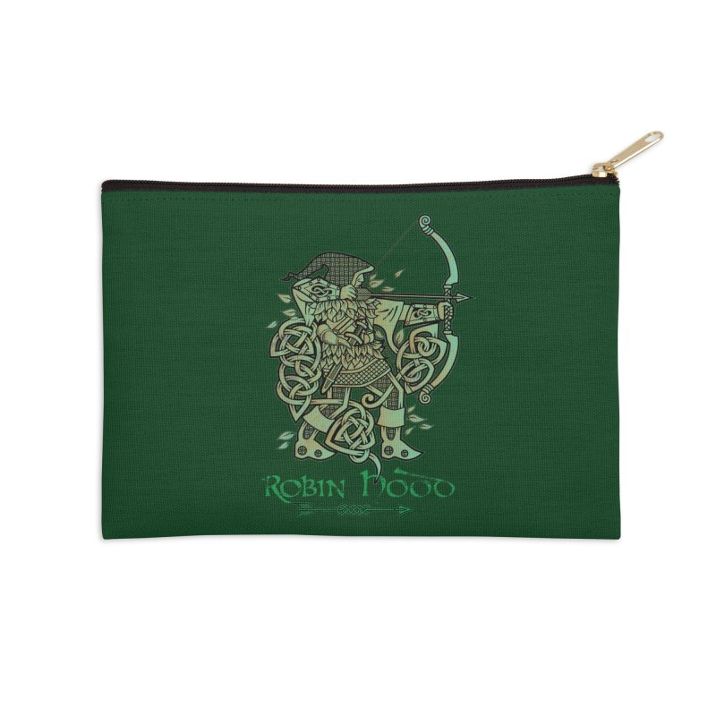Robin Hood (Green Copper Version) Accessories Zip Pouch by Celtic Hammer Club Apparel