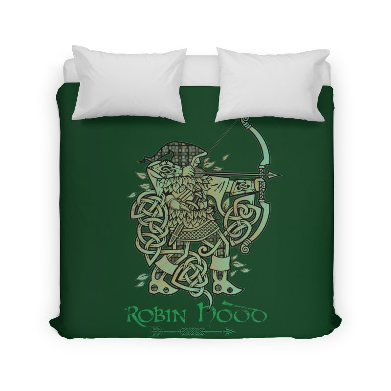 Robin Hood (Green Copper Version) Home Duvet by Celtic Hammer Club