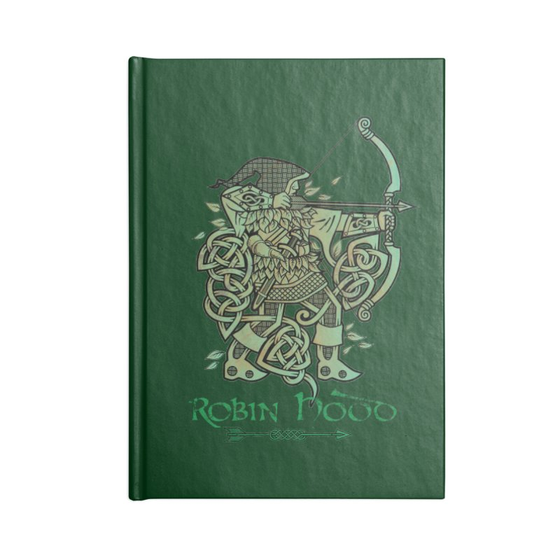 Robin Hood (Green Copper Version) Accessories Notebook by Celtic Hammer Club Apparel