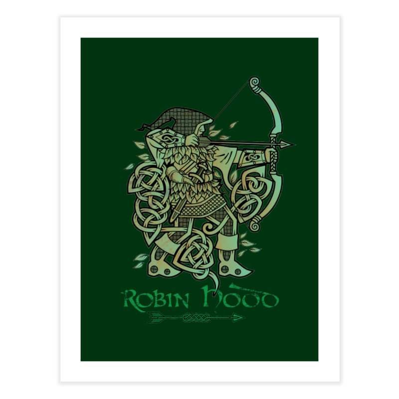 Robin Hood (Green Copper Version) Home Fine Art Print by Celtic Hammer Club