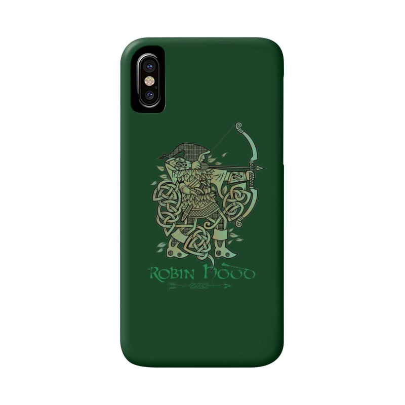 Robin Hood (Green Copper Version) Accessories Phone Case by Celtic Hammer Club Apparel