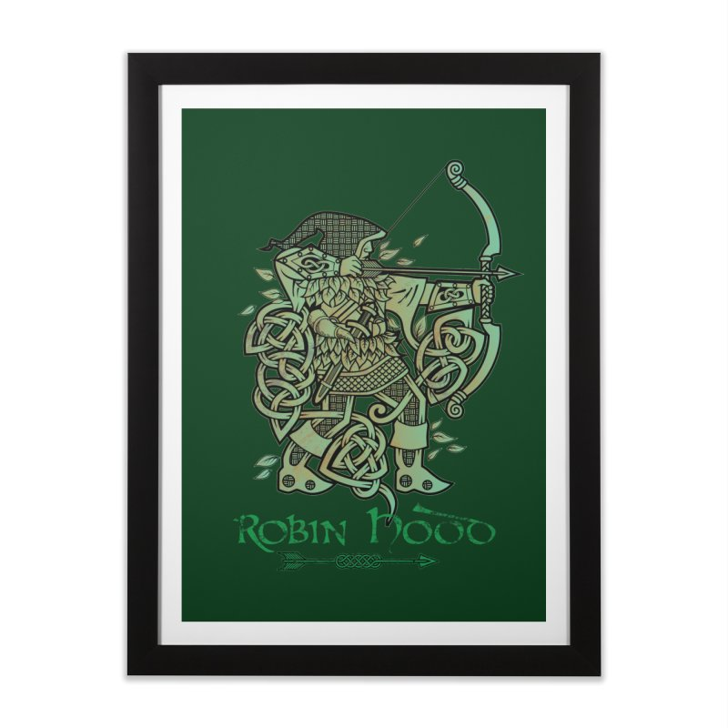 Robin Hood (Green Copper Version) Home Framed Fine Art Print by Celtic Hammer Club Apparel