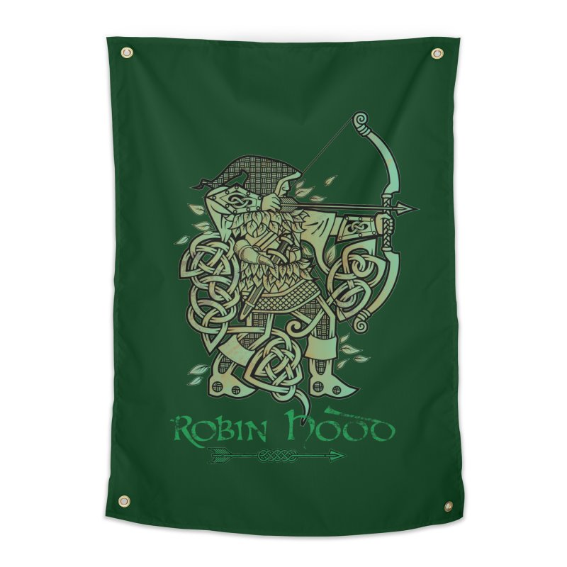 Robin Hood (Green Copper Version) Home Tapestry by Celtic Hammer Club Apparel