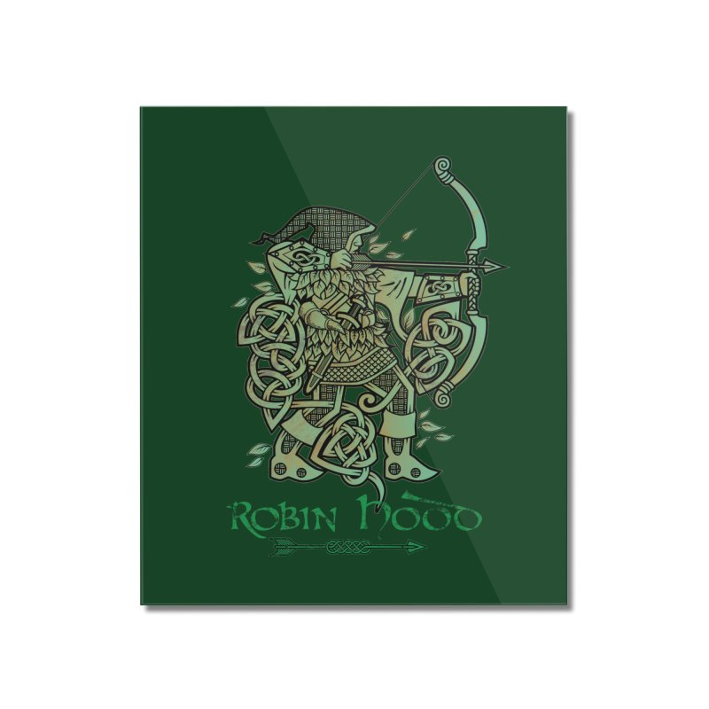 Robin Hood (Green Copper Version) Home Mounted Acrylic Print by Celtic Hammer Club Apparel