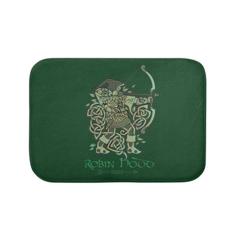 Robin Hood (Green Copper Version) Home Bath Mat by Celtic Hammer Club Apparel