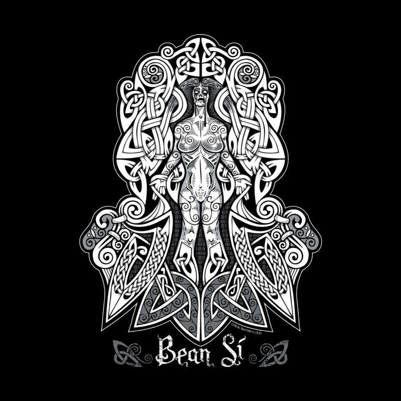 Banshee (bean sí) Women's V-Neck by Celtic Hammer Club